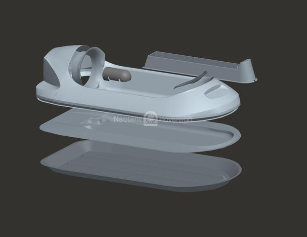 Picture Hovercraft model tooling plugs