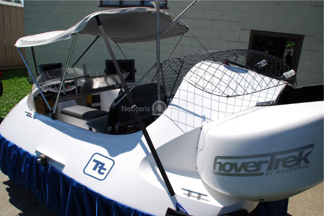 Image customized commercial hovercraft for munitions detection