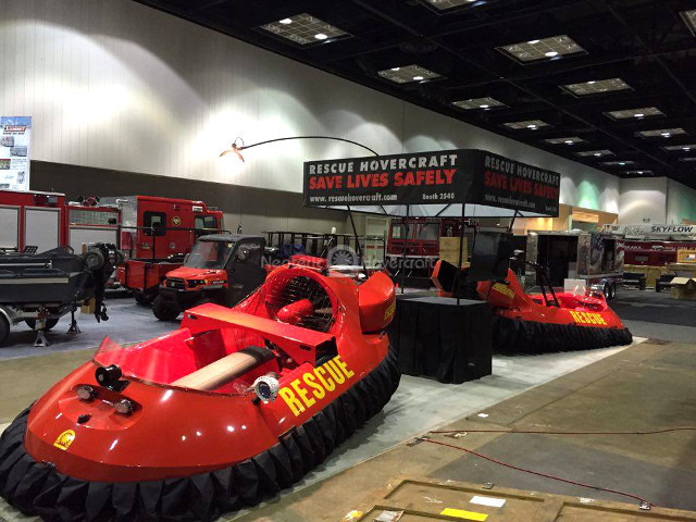 FDIC 2016 Indianapolis Neoteric Rescue Hovercraft Safe rescue operations First responder safety Water rescue apparatus Ice rescue vehicle Mud rescue equipment Flood rescue tools