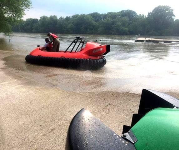 Image Council Bluffs Fire Department Hovercraft flood rescue