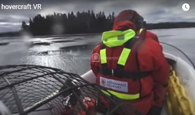 Rescue hovercraft video, Ice rescue vehicles, First responder safety,