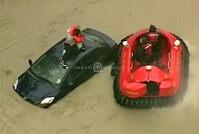 Hovercraft video Safest Flood Rescue vehicle