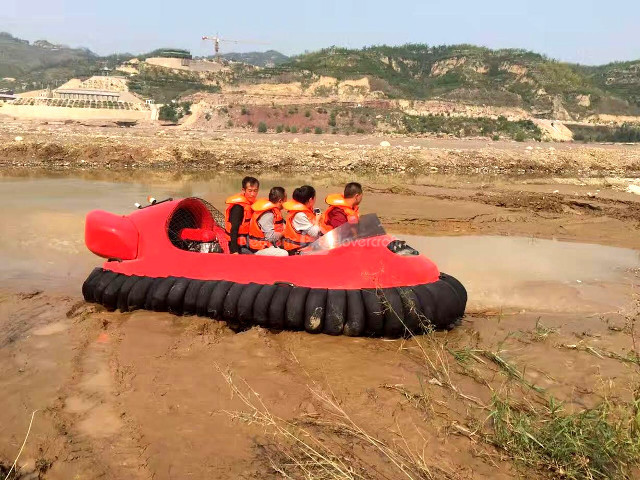 China hovercraft Yellow River Tourist Attractions LuLiang Jujube Festival Qikou