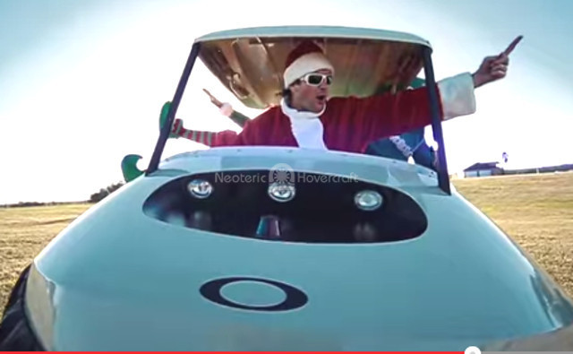 Bubba Claus Christmas rap video Bubba Watson hovercraft video