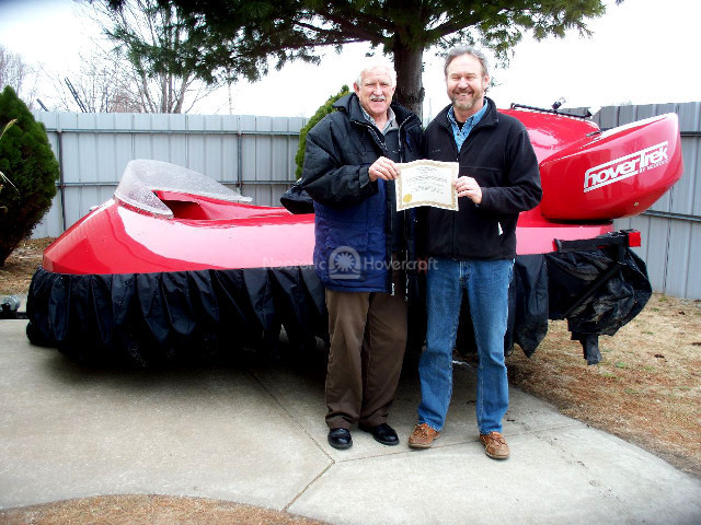 Dan Brown hovercraft photo