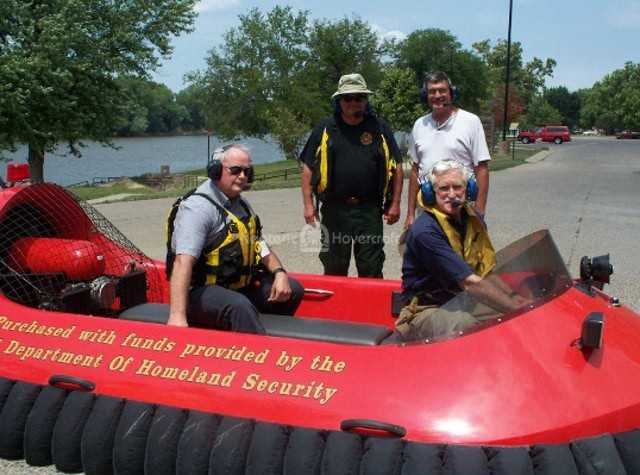 Image Hovercraft pilot training Hazleton Fire Department
