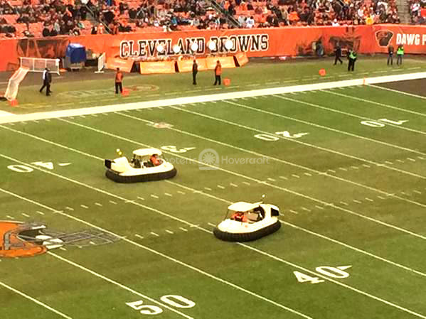Browns Bengals Hovercraft halftime show FirstEnergy Stadium