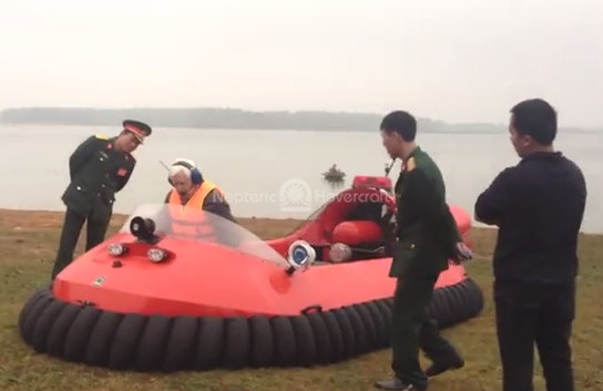 Rescue Hovercraft video Viet Nam