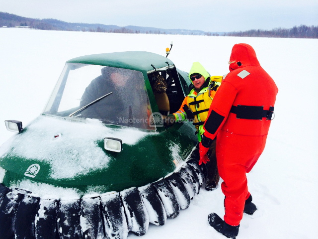 Hovercraft ice rescue photos