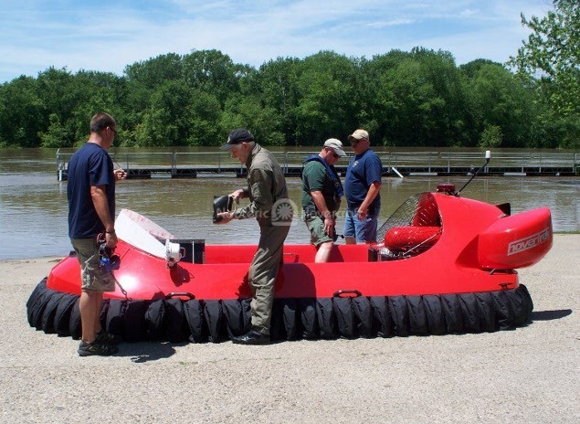 Image rescue hovercraft Roswell Fire Department