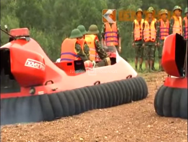 Rescue hovercraft video flight training