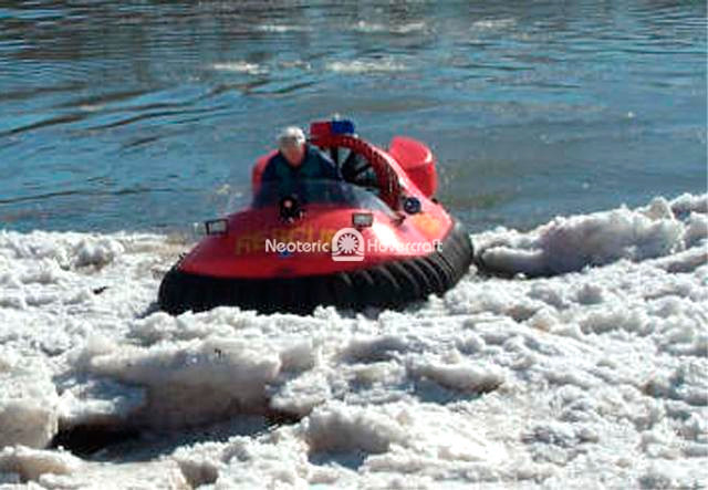 Image Hovercraft ice rescue vehicle