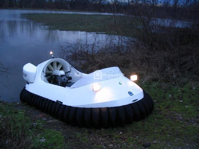 Recreational Hovercraft on Floodwaters