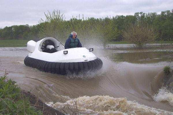 Recreational Hovercraft on Swift Water