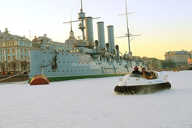 Hovering by Russian Cruiser Aurora