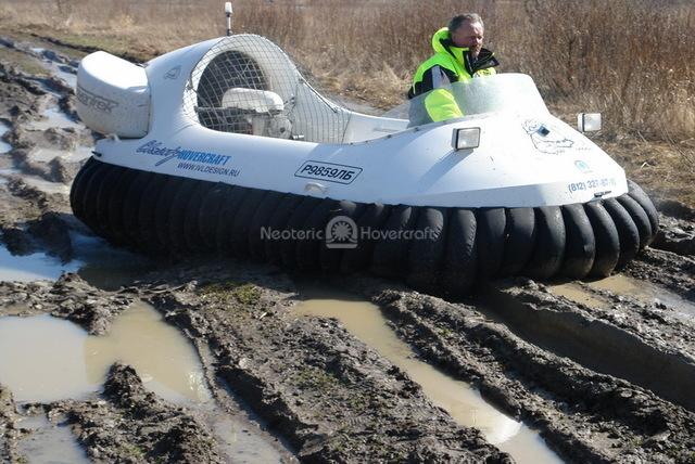 Hovercraft Demonstration for Russian Media