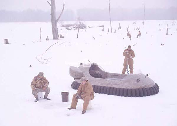Recreational Hovercraft for Ice Fishing