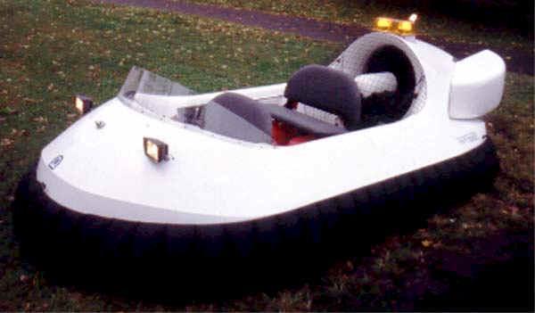 Four Passenger White Recreational Hovercraft