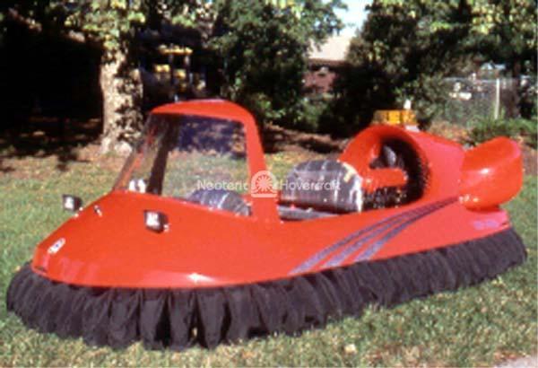 Red Four Passenger Recreational Hovercraft