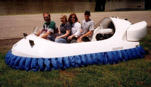Four Passenger Recreational Hovercraft with Inline Seating