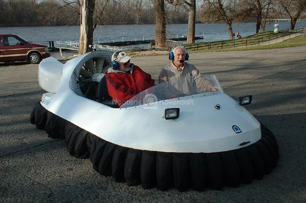Recreational Hovercraft at the Wabash River