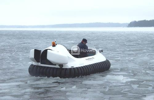 Recreational Hovercraft on Ice