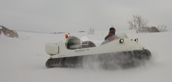 Recreational Hovercraft on Snow