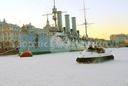 Photo Hovercraft Aurora Russian cruiser