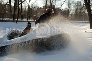 Image Hovercraft on snow in Russia