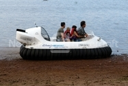 Image Hovercraft Operation in Saltwater Russia