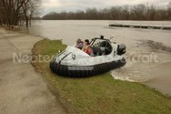 Image Hovercraft crossing steep slope