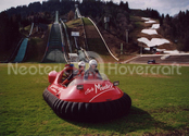 Image Neoteric hovercraft on Austrian ski slope