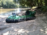 Image Hovercraft river cruising White River Indiana