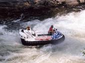 Image Recreational Hovercraft on swift water