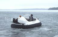 Image Recreational Hovercraft on broken ice Finland