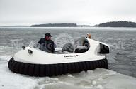 Image Neoteric Recreational Hovercraft on broken ice snow