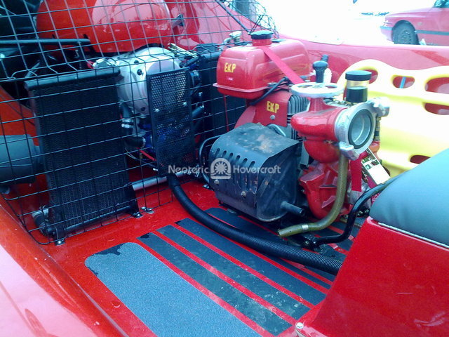 Rescue Hovercraft Fire Water Pump