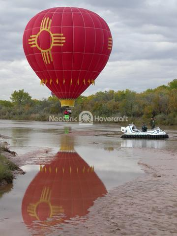 Rescue Hovercraft with Hot Air Balloon