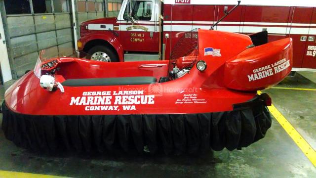 Image rescue hovercraft George Larson Marine Rescue