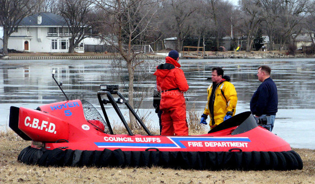 Image Neoteric Rescue hovercraft Council Bluffs Fire Department