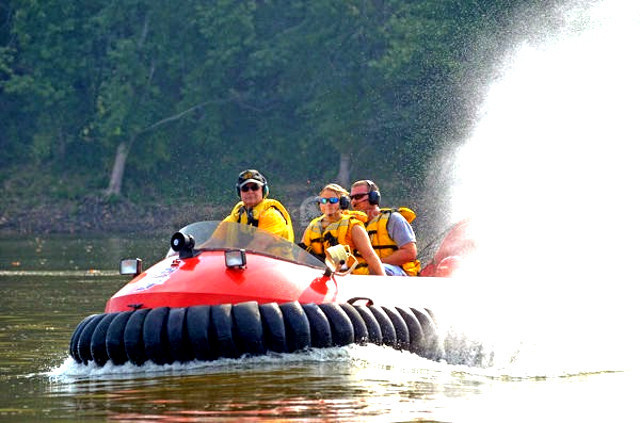 Photo rescue hovercraft flight Hazelton Fire Department