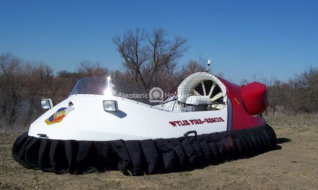 Picture Texas flood rescue hovercraft manufacturer Neoteric