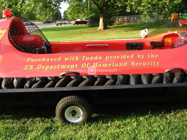 Hovercraft image Homeland Security grant pays for rescue hovercraft