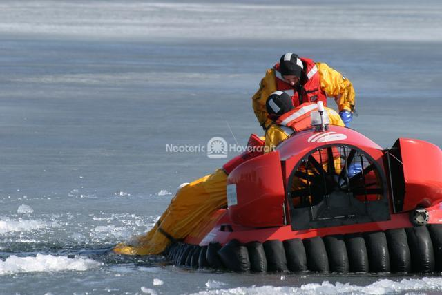Rehearsing Ice Rescue Retrieval
