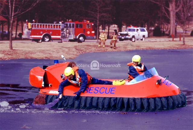 Rescue Hovercraft in Action