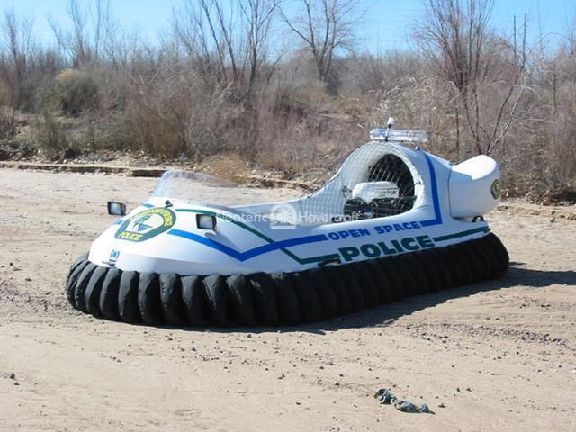 Police Department Rescue Hovercraft, Albuquerque, New Mexico, USA