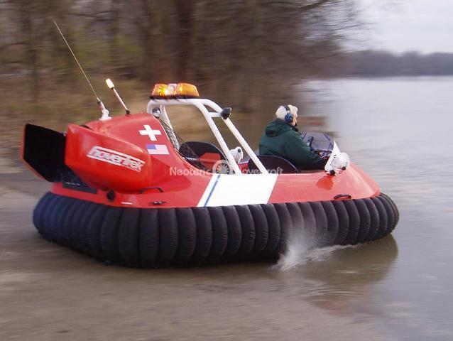Testing Dr. Miller's US Coast Guard Hovercraft Design