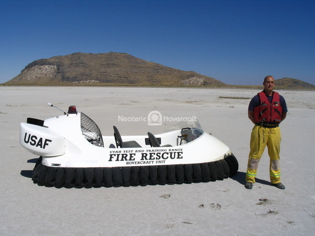 United States Air Force Fire Rescue Hovercraft