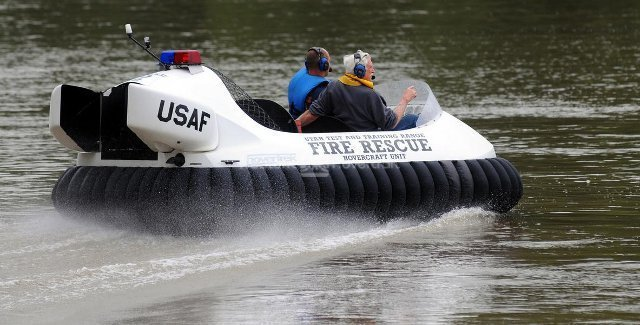 U.S. Air Force Rescue Hovercraft: Utah Test & Training Range, Hill Air Force Base