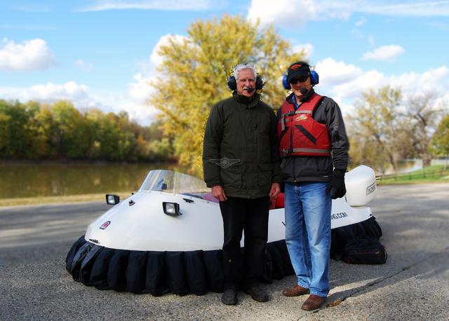 Image recreational hovercraft pilot
